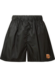 Prada Appliquéd shell shorts