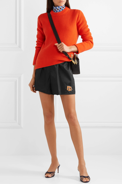 Prada Appliquéd shell shorts