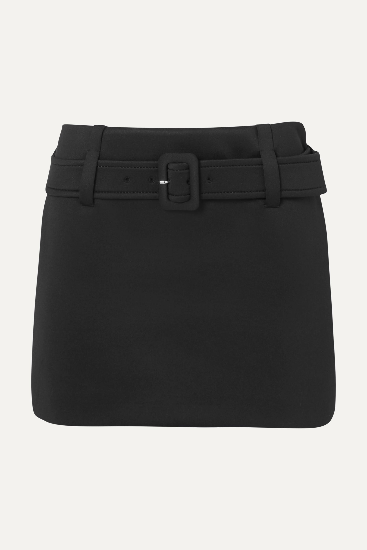 Prada Belted tech-jersey mini skirt