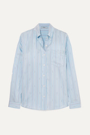 Striped silk-satin shirt