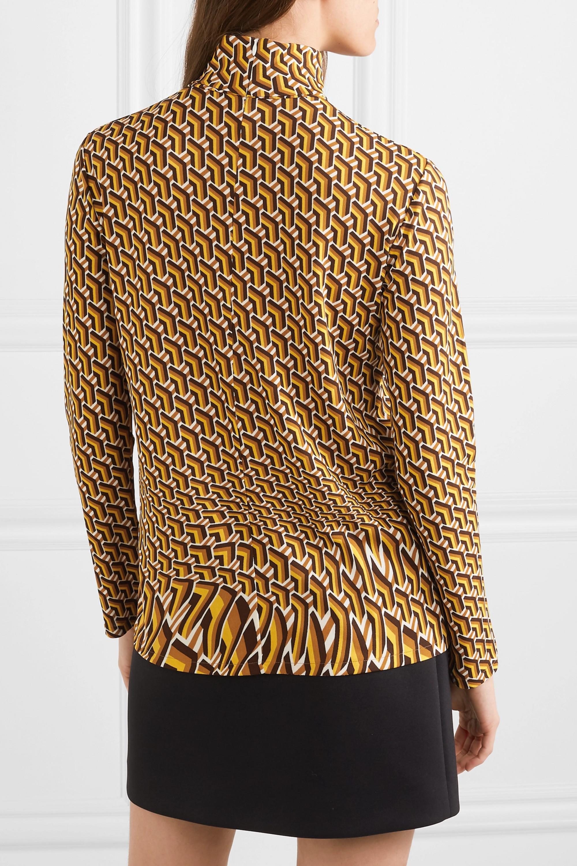 Prada Printed stretch-jersey turtleneck top