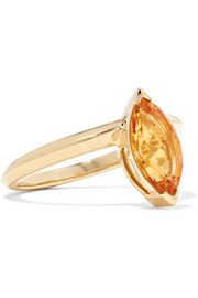 Jitterbug 18-karat gold citrine ring
