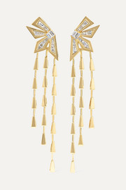 Dynamite Cascade 18-karat gold diamond earrings