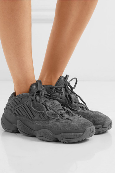 + Kanye West Yeezy 500 Desert Rat suede and mesh sneakers 1c653951e