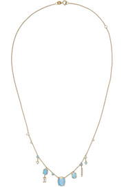 14-karat gold multi-stone necklace