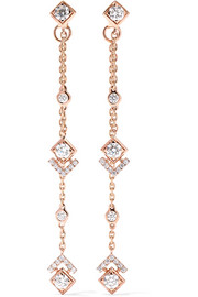 My Soul 18-karat rose gold diamond earrings