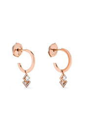 My Soul 18-karat rose gold diamond hoop earrings