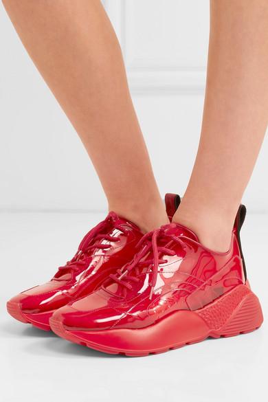Stella Mccartney Sneakers Eclypse logo-woven PU sneakers