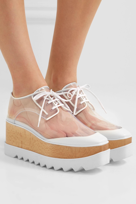 Stella McCartney Elyse PU and faux leather platform brogues
