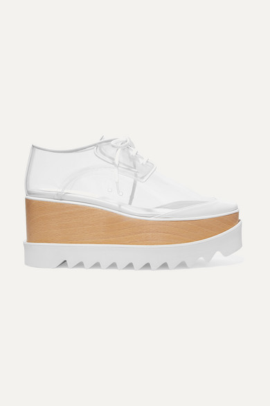 Elyse Pu And Faux Leather Platform Brogues in White