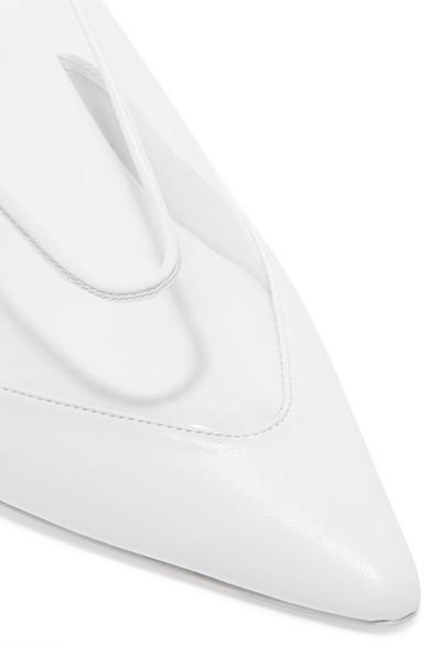 Stella Mccartney Pumps Faux leather-trimmed PU pumps