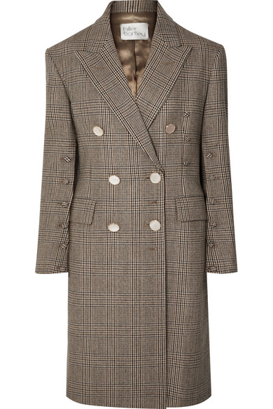 Hillier Bartley OVERSIZED DOUBLE-BREASTED CHECKED WOOL COAT