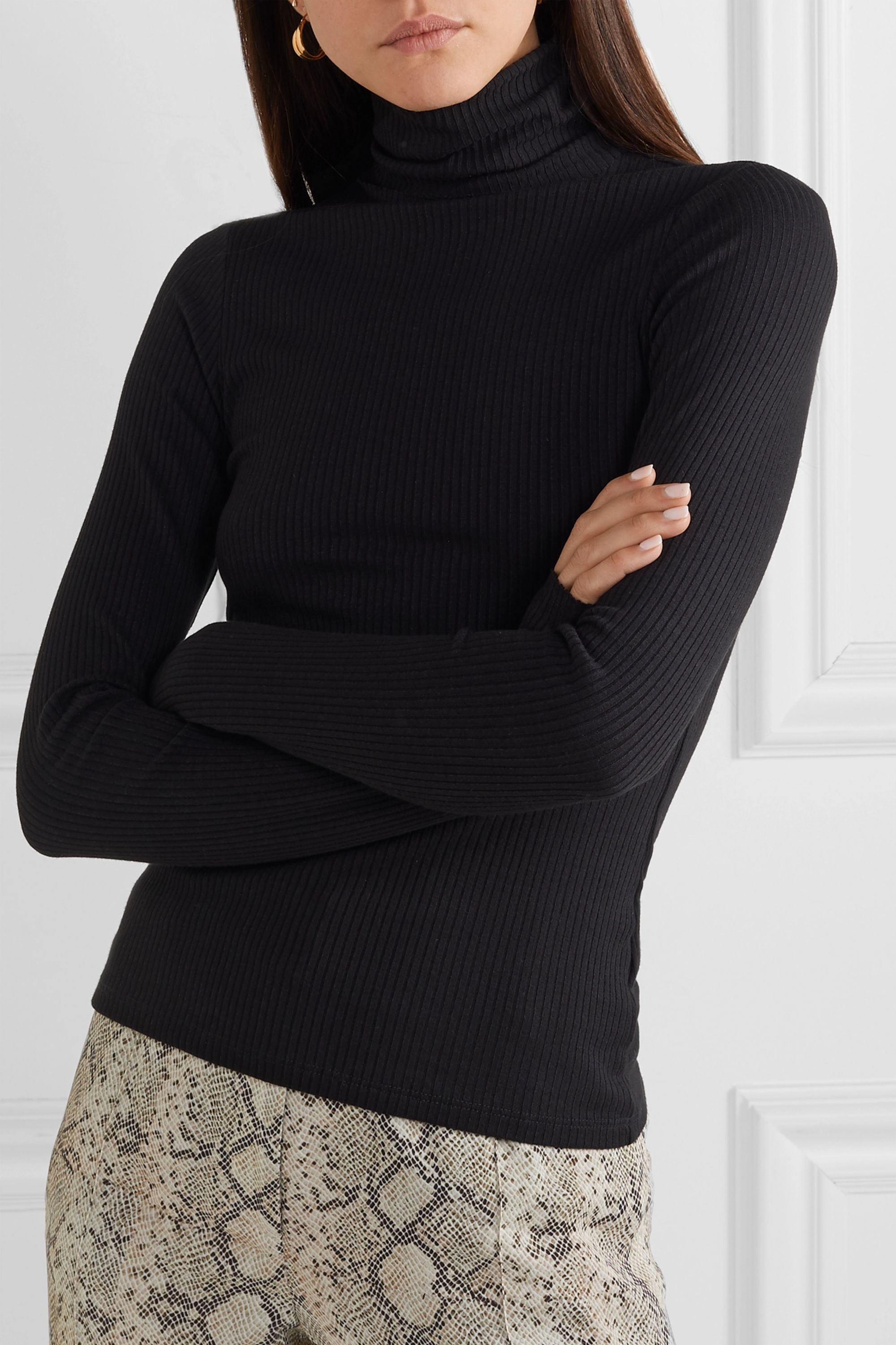The Range Alloy ribbed stretch-knit turtleneck sweater