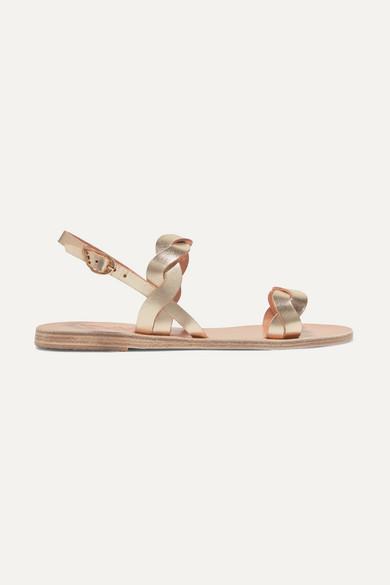 bf0e709ef Ancient Greek Sandals | Plexi braided metallic leather sandals | NET ...