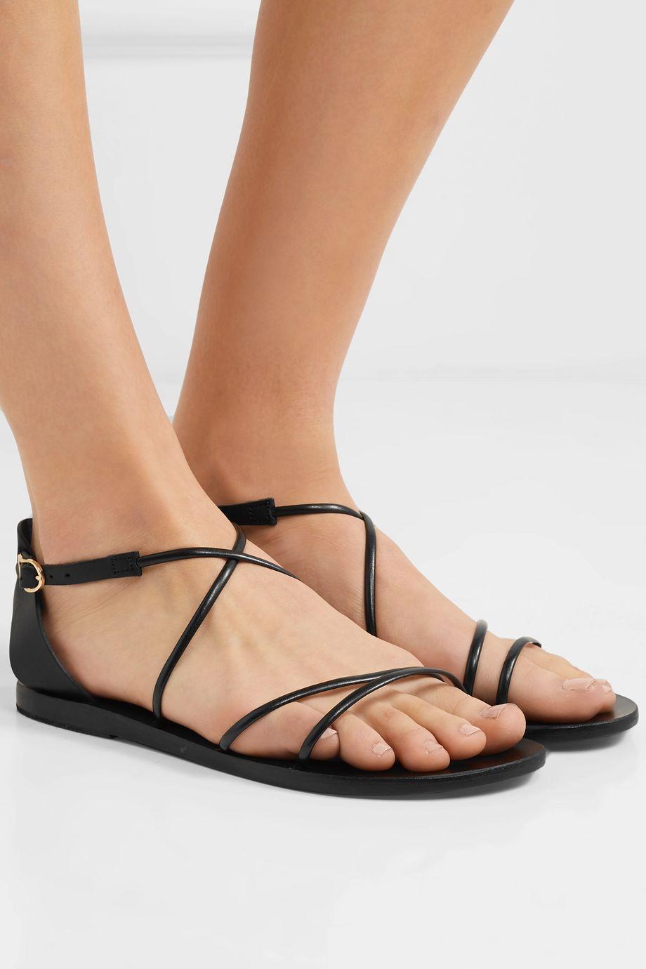 Ancient Greek Sandals Meloivia leather sandals