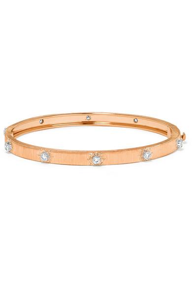 BUCCELLATI Macri 18-Karat Yellow And White Gold Diamond Bracelet in Rose Gold