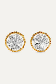 Buccellati Ramage 18-karat yellow and white gold diamond earrings