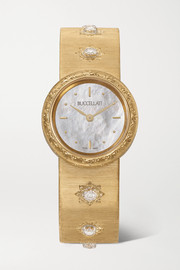 Buccellati Macri 24mm 18-karat gold and diamond watch