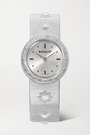 Macri 24mm 18-karat white gold and diamond watch