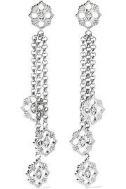 Opera 18-karat white gold diamond earrings