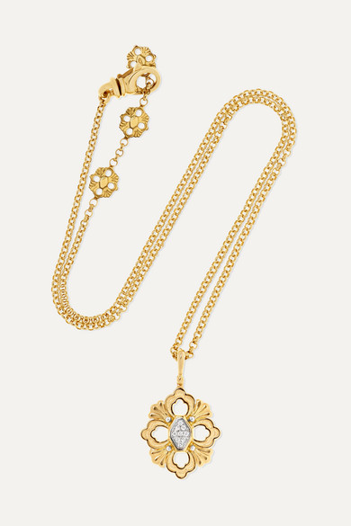 Opera 18-Karat Yellow And White Gold Diamond Necklace