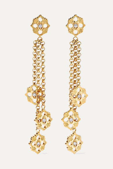 Opera 18-Karat Gold Diamond Earrings