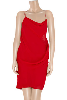 Helmut Lang | Twisted crepe dress | NET-A-PORTER.COM