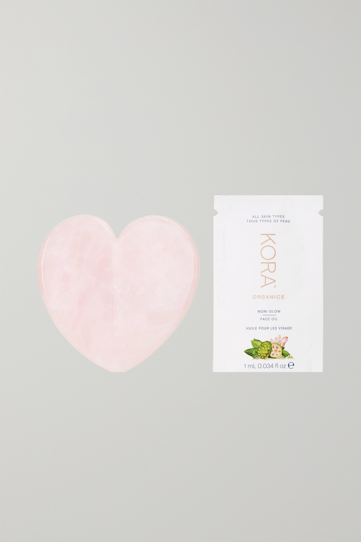 KORA Organics Rose Quartz Heart Facial Sculptor