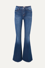 Solana high-rise flared jeans