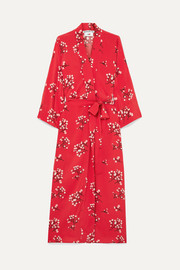 BERNADETTE Floral-print silk crepe de chine wrap maxi dress