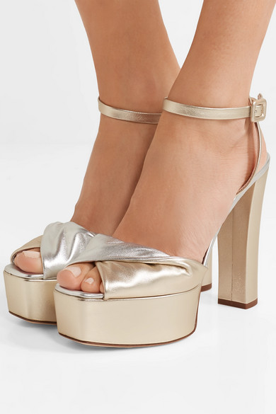 87ef18d5db9d Giuseppe Zanotti. Lavinia metallic leather platform sandals