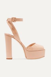 Betty patent-leather platform sandals