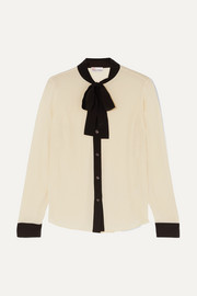 REDValentino Pussy-bow silk-crepe blouse