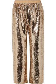 Figue Verushka cropped sequined tulle pants
