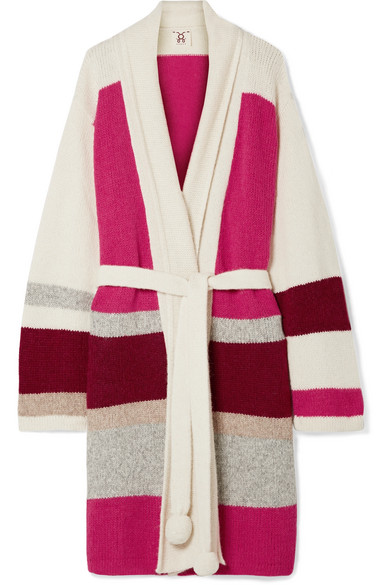FIGUE | Figue - Yara Color-block Alpaca-blend Cardigan - Ivory | Goxip