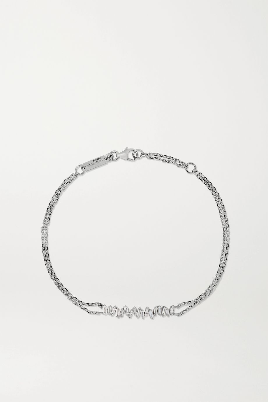 Suzanne Kalan Bracelet en or blanc 18carats et diamants