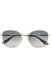 Givenchy Square-frame gold-tone sunglasses