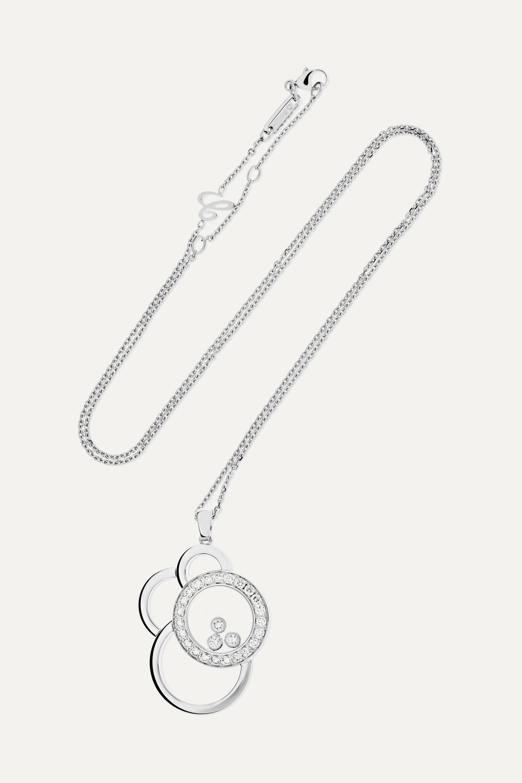 Chopard Happy Dreams 18-karat white gold diamond necklace