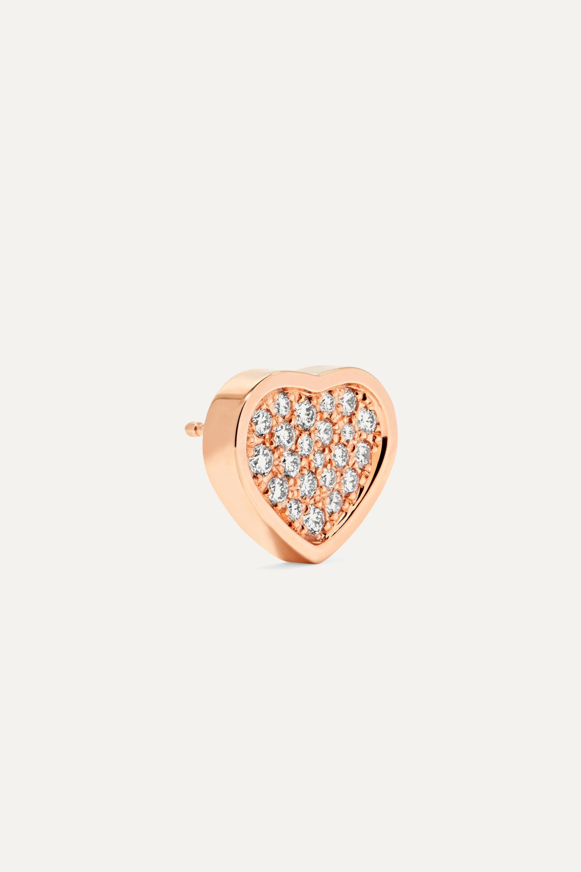 Chopard Happy Hearts 18-karat rose gold diamond earrings
