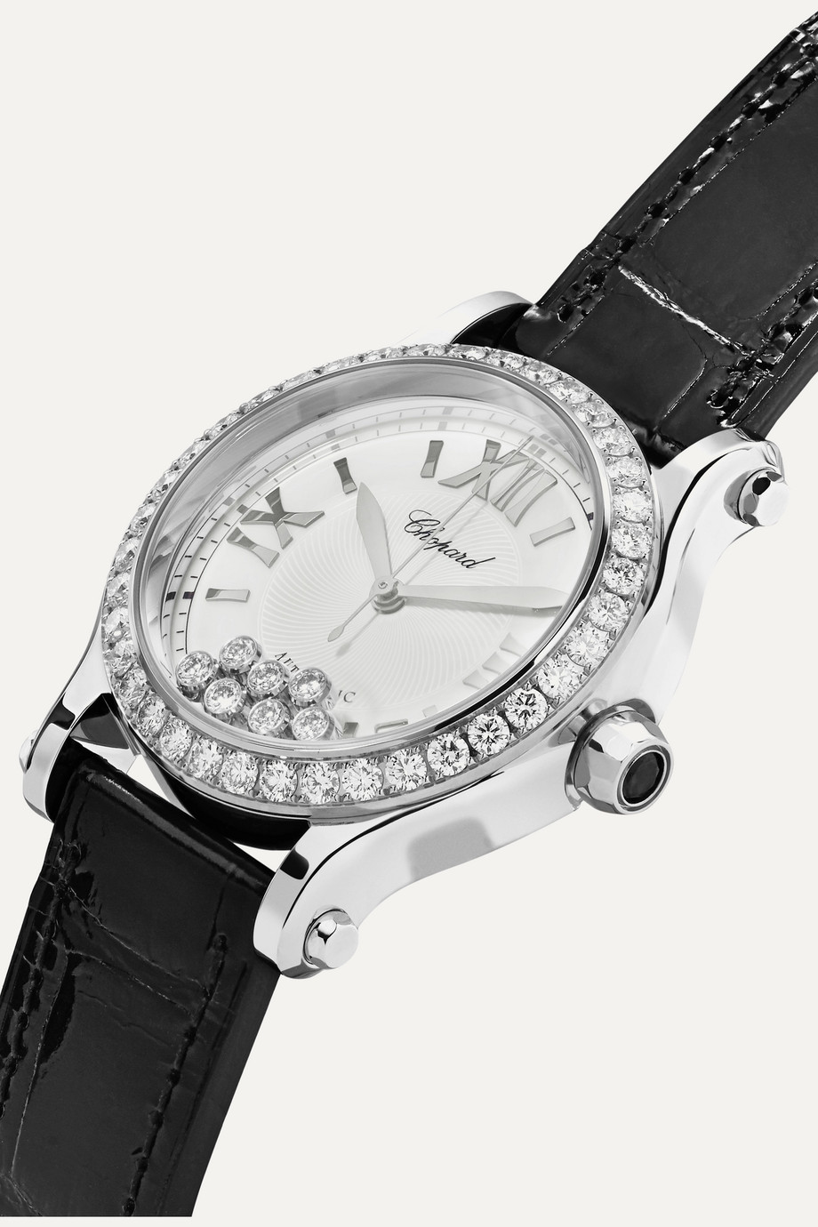 Chopard Happy Sport Automatic 36mm stainless steel, alligator and diamond watch