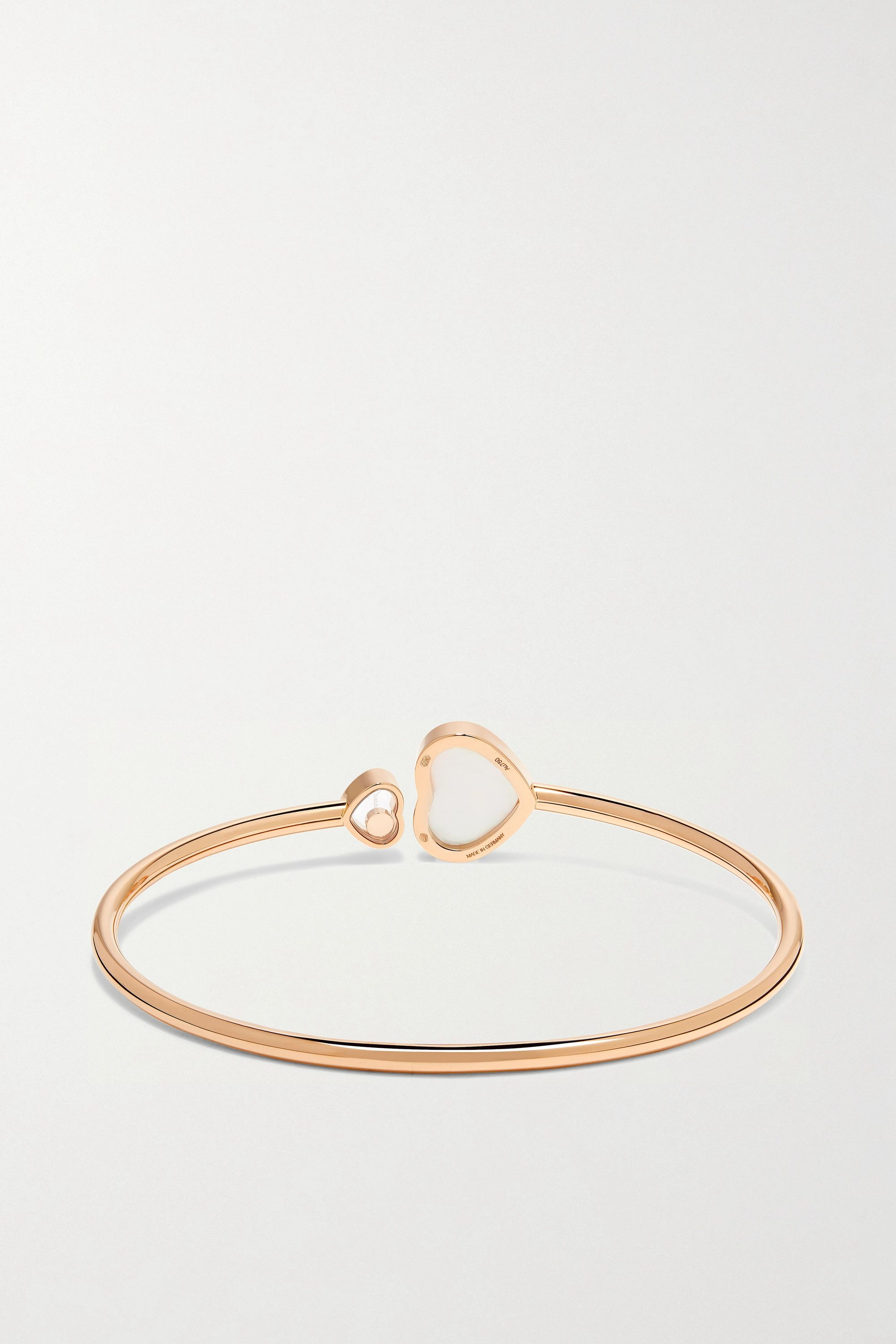 Chopard Happy Hearts 18-karat rose gold, diamond and mother-of-pearl cuff