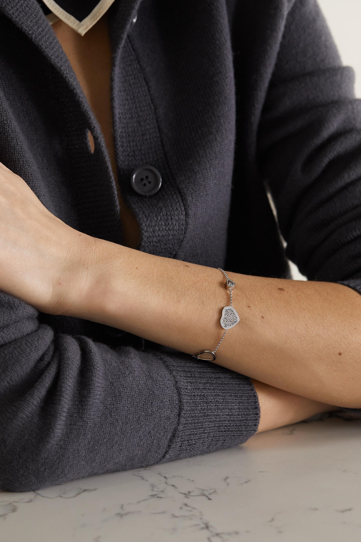 Chopard Happy Hearts 18-karat white gold diamond bracelet