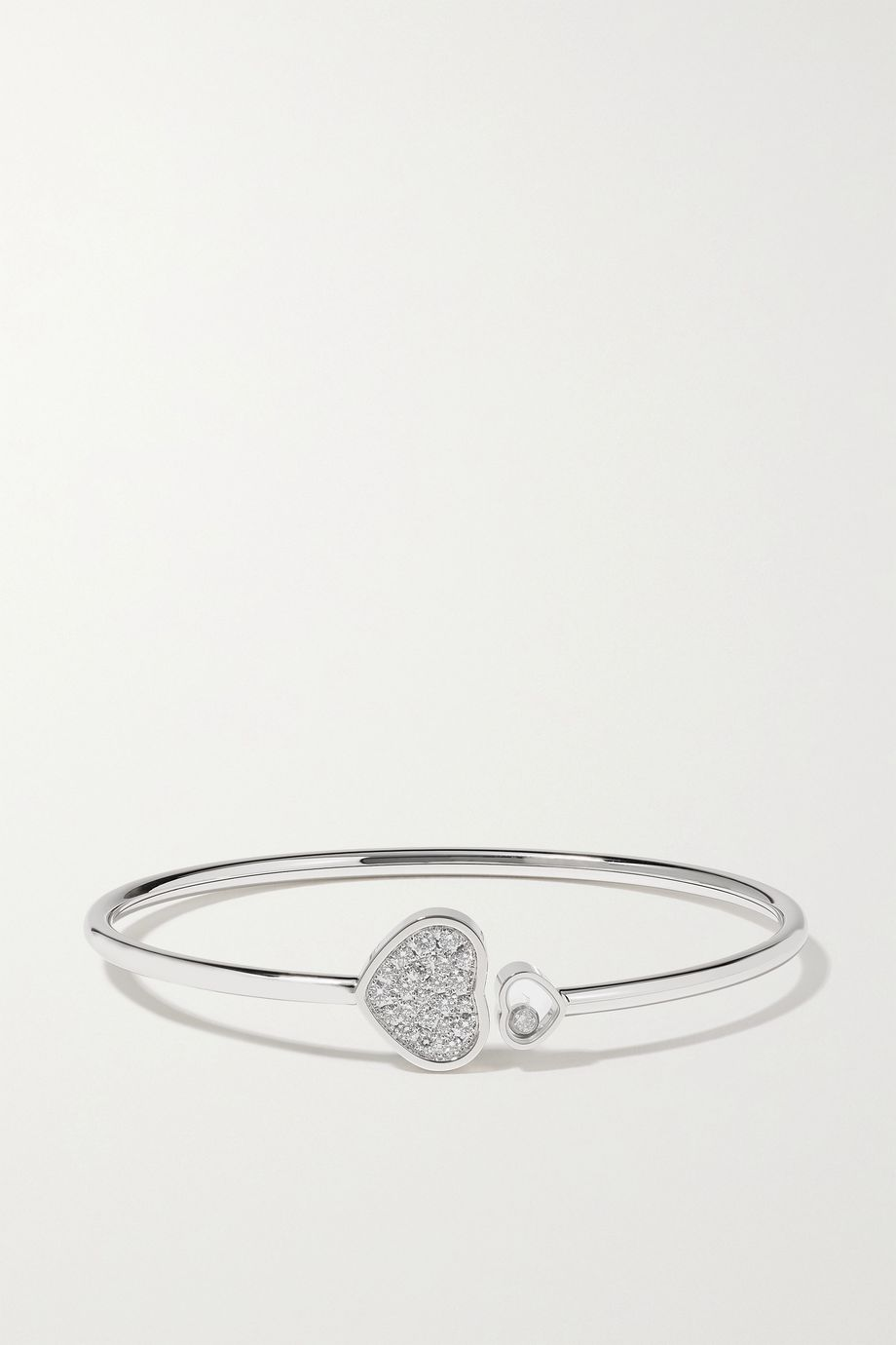 Chopard Bracelet en or blanc 18 carats et diamants Happy Hearts