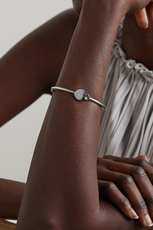 Chopard Happy Hearts 18-karat white gold diamond cuff