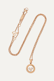 Chopard Happy Diamonds 18-karat rose gold diamond necklace
