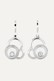 Happy Dreams 18-karat white gold diamond earrings