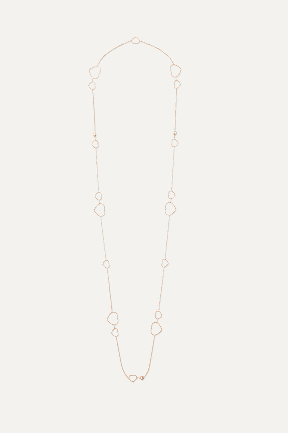 Chopard Happy Hearts 18-karat rose gold diamond necklace