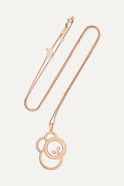 Chopard Happy Dreams 18-karat rose gold diamond necklace