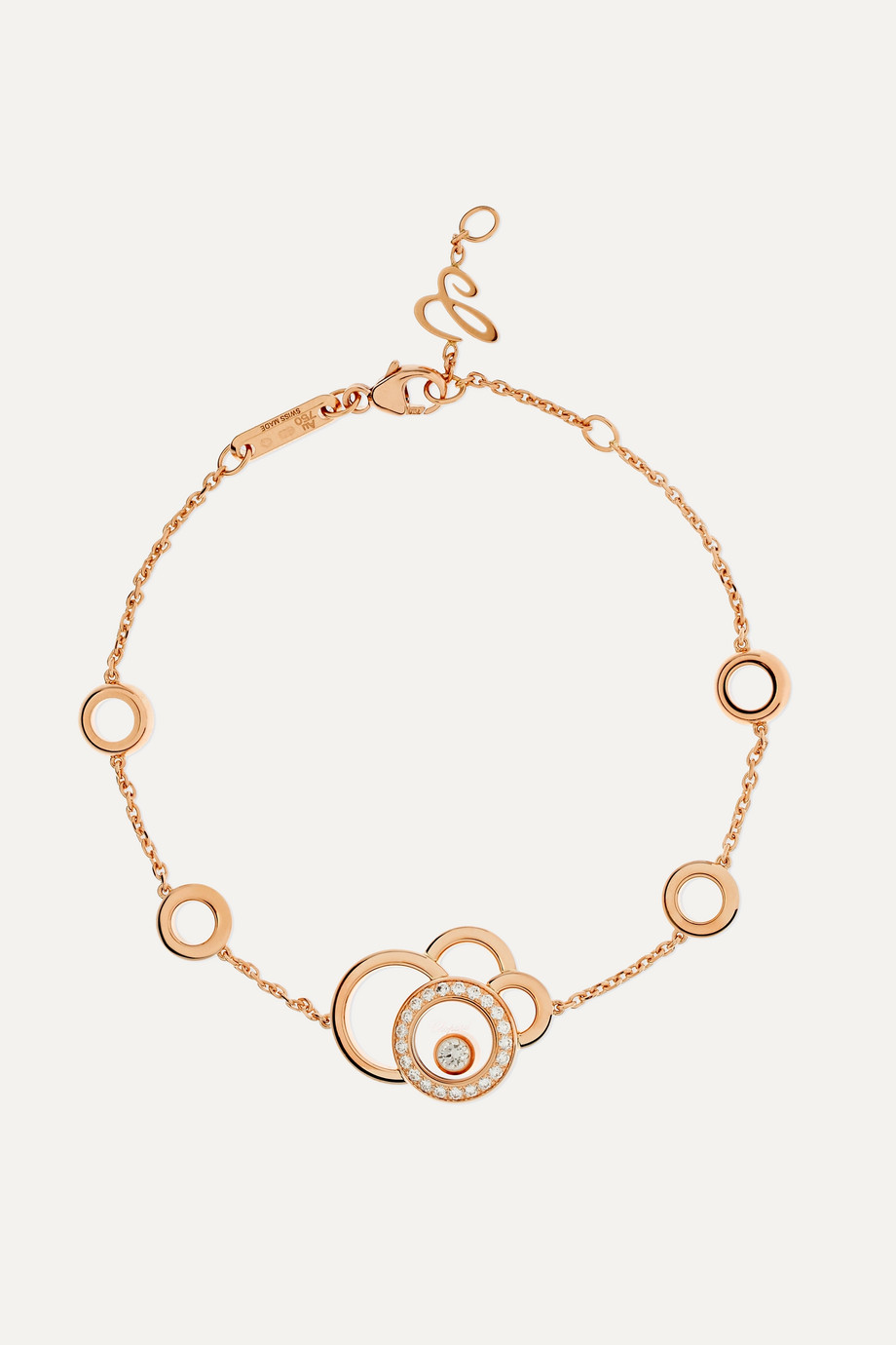 Chopard Happy Dreams 18-karat rose gold diamond bracelet