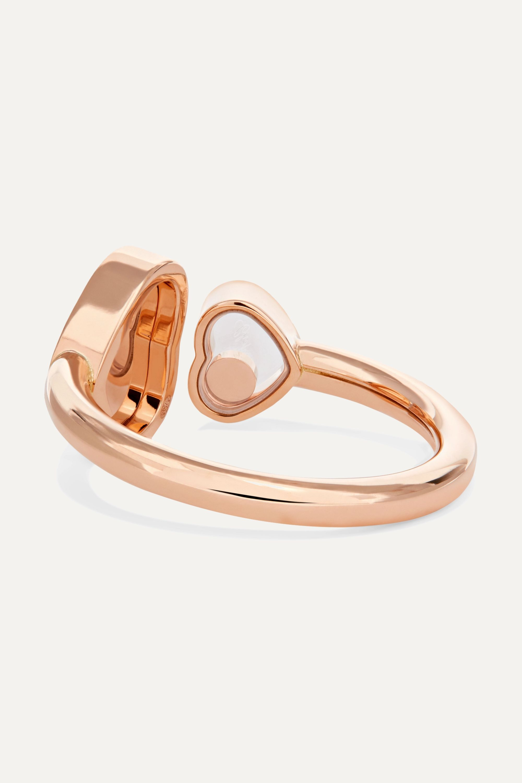 Chopard Happy Hearts 18-karat rose gold diamond ring